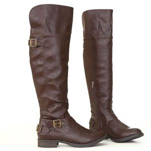 savy-brown over the knee boots